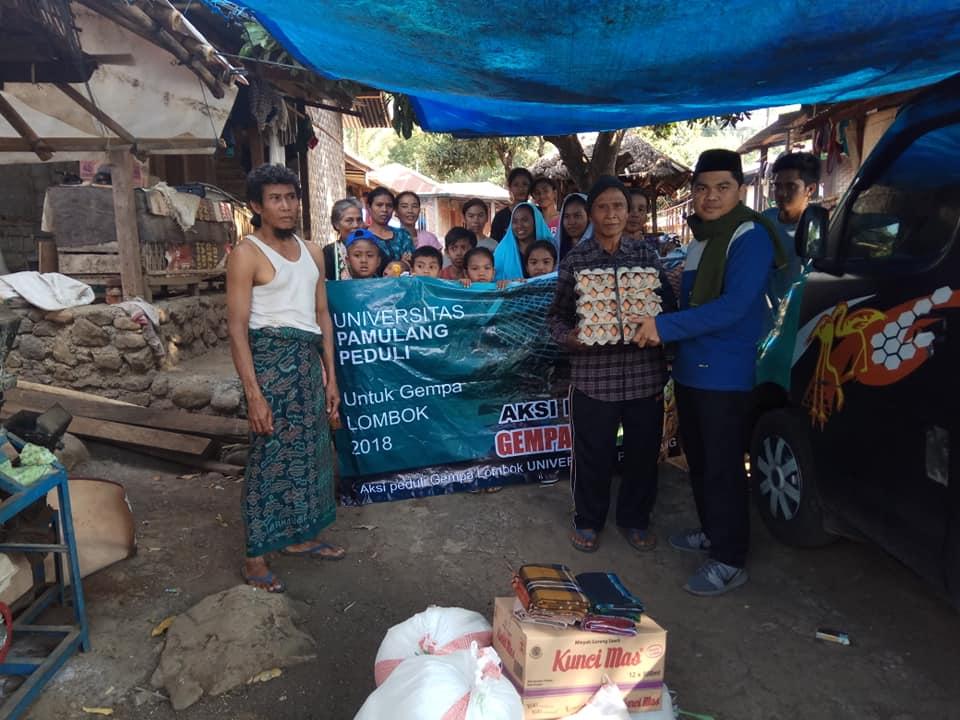Unpam Bantu Pengungsi Gempa Lombok