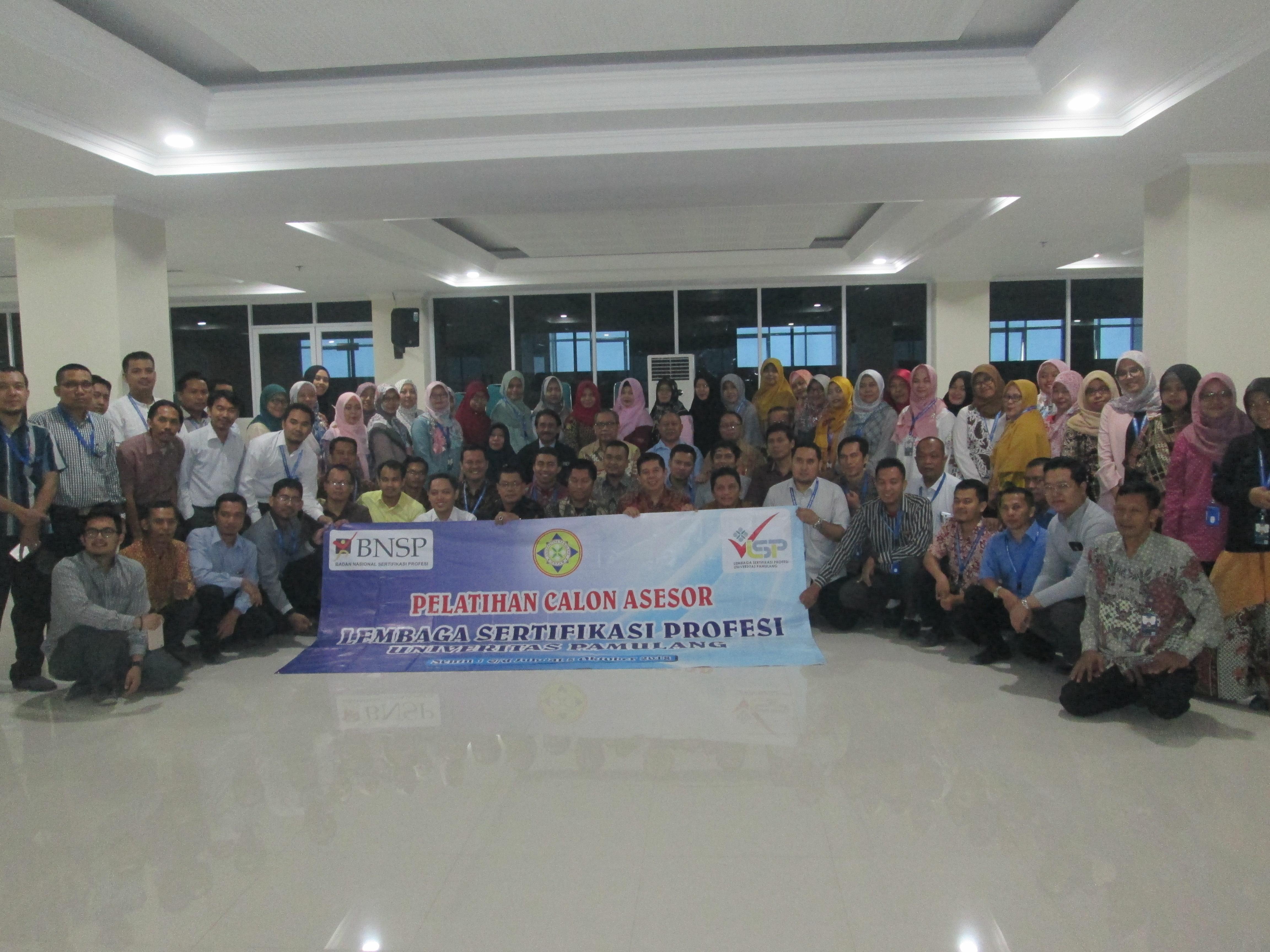 Unpam Gelar Pelatihan Calon Asessor LSP